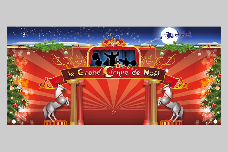 illustration Le grand Cirque de Noël